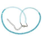 Cord gjerdan Moda, Plastike Cord Net Thread, with Kristal, blu, 4mm, :20Inç, 30Fillesat/Shumë,  Shumë