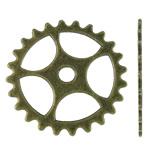 Connector Zink Alloy, Alloy zink, Lule, Ngjyra antike bronz i praruar, asnjë, asnjë, , nikel çojë \x26amp; kadmium falas, 25x25x1mm, : 3mm, 580PC/KG,  KG