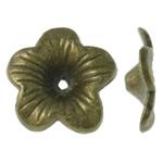 Alloy zink Bead Cap, Lule, Ngjyra antike bronz i praruar, asnjë, asnjë, , nikel çojë \x26amp; kadmium falas, 18x17x4.50mm, : 1.5mm, 620PC/KG,  KG