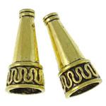 Alloy zink Bead Cap, Kon, Ngjyra antike ari praruar, asnjë, asnjë, , nikel çojë \x26amp; kadmium falas, 10x21.5mm, : 1.5-7.5mm, 450PC/KG,  KG