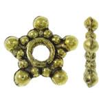 Beads Zink Alloy Spacer, Alloy zink, Yll, Ngjyra antike ari praruar, asnjë, asnjë, , nikel çojë \x26amp; kadmium falas, 9x8.50x2mm, : 2mm, 3330PC/KG,  KG