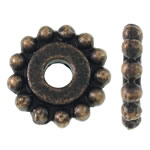 Beads Zink Alloy Spacer, Alloy zink, Lule, ngjyrë bakri të praruar antike, asnjë, asnjë, , nikel çojë \x26amp; kadmium falas, 11.50x11.50x2mm, : 3mm, 1000PC/KG,  KG