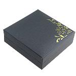 Byzylyk karton Box, Letër, with PVC plastike, Katror, asnjë, asnjë, e zezë, 87x87x28mm, 20PC/Qese,  Qese