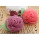 Silk pe, Lule, asnjë, asnjë, ngjyra të përziera, 65x65mm, 30PC/Shumë,  Shumë