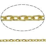 Tunxh Zinxhiri Curb, Shape Tjera, ngjyrë ari praruar, asnjë, asnjë, , nikel çojë \x26amp; kadmium falas, 1.50x2.30x0.45mm, : 100m,  PC