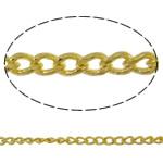 Oval Zinxhiri tunxh, Shape Tjera, ngjyrë ari praruar, asnjë, asnjë, , nikel çojë \x26amp; kadmium falas, 1.10x1.80x0.35mm, : 100m,  PC