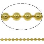 Tunxh Ball Chain, Shape Tjera, ngjyrë ari praruar, asnjë, asnjë, , nikel çojë \x26amp; kadmium falas, 1.5mm, : 100m,  PC