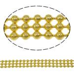 Tunxh Ball Chain, Shape Tjera, ngjyrë ari praruar, asnjë, asnjë, , nikel çojë \x26amp; kadmium falas, 4.6x1.5mm, : 100m,  PC