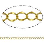 Oval Zinxhiri tunxh, Shape Tjera, ngjyrë ari praruar, asnjë, asnjë, , nikel çojë \x26amp; kadmium falas, 4.10x5.30x0.60mm, : 100m,  PC