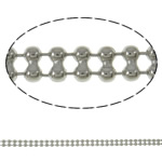Tunxh Ball Chain, Shape Tjera, ngjyrë platin praruar, asnjë, asnjë, , nikel çojë \x26amp; kadmium falas, 3.2x1.5mm, : 100m,  PC
