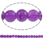 Knistern Glasperlen, Glas, rund, violett, 6mm, Bohrung:ca. 1mm, Länge:ca. 31.5 ZollInch, 10SträngeStrang/Tasche, verkauft von Tasche