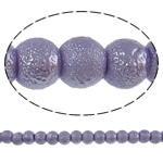 Stardust Glass Beads, Xham, Round, asnjë, purpurtë drita, 6mm, : 1mm, : 33Inç, 10Fillesat/Qese, approx145Pcs/Strand,  Qese