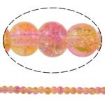 Glass Beads kërcitje, Xham, Round, asnjë, dy-ton, asnjë, 5mm, : 1mm, : 32.2Inç, 10Fillesat/Qese, approx228Pcs/Strand,  Qese