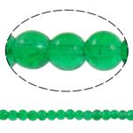 Glass Beads kërcitje, Xham, Round, asnjë, e gjelbër, 6mm, : 1mm, : 31.5Inç, 10Fillesat/Qese, approx161Pcs/Strand,  Qese