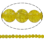 Glass Beads kërcitje, Xham, Round, asnjë, i verdhë, 8mm, : 1mm, : 31.5Inç, 10Fillesat/Qese, approx108Pcs/Strand,  Qese