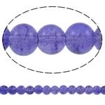 Glass Beads kërcitje, Xham, Round, asnjë, hyacinthine, 8mm, : 1mm, : 31.5Inç, 10Fillesat/Qese, approx108Pcs/Strand,  Qese