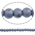 Stardust Glass Beads, Xham, Round, asnjë, blu të mesme, 8mm, : 1mm, : 31.5Inç, 10Fillesat/Qese, approx130Pcs/Strand,  Qese