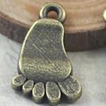 Pendants Zink Alloy, Alloy zink, Gjurmë, Ngjyra antike bronz i praruar, asnjë, asnjë, , nikel çojë \x26amp; kadmium falas, 15x11mm, : 2mm, 400PC/Qese,  Qese