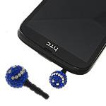 Pluhuri kufje Jack Cap priza, diamant i rremë Shtrim bead, with Plastik, Round, asnjë, asnjë, blu, 12mm, 26mm, 50PC/Qese,  Qese