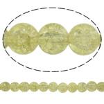 Glass Beads kërcitje, Xham, Round, asnjë, krem të verdhë, 10mm, : 1mm, : 31.5Inç, 10Fillesat/Qese, approx83Pcs/Strand,  Qese