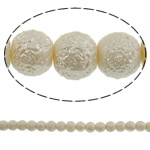 Stardust Glass Beads, Xham, Round, asnjë, bezh, 10mm, : 1mm, : 31.5Inç, 10Fillesat/Qese, approx83Pcs/Strand,  Qese