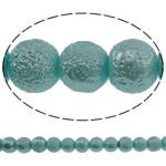 Stardust Glass Beads, Xham, Round, asnjë, dritë blu, 10mm, : 1mm, : 31.5Inç, 10Fillesat/Qese, approx83Pcs/Strand,  Qese