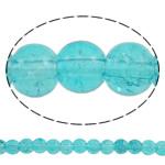 Glass Beads kërcitje, Xham, Round, asnjë, bruz blu, 6mm, : 1mm, : 31.5Inç, 10Fillesat/Qese, approx145Pcs/Strand,  Qese