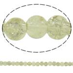 Glass Beads kërcitje, Xham, Round, asnjë, krem të verdhë, 5mm, : 1mm, : 31.5Inç, 10Fillesat/Qese, approx202Pcs/Strand,  Qese