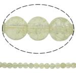 Glass Beads kërcitje, Xham, Round, asnjë, krem të verdhë, 8mm, : 1.5mm, : 31.5Inç, 10Fillesat/Qese, approx112Pcs/Strand,  Qese