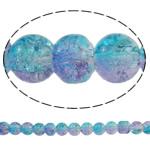 Glass Beads kërcitje, Xham, Round, asnjë, dy-ton, asnjë, 8mm, : 1.5mm, : 31.5Inç, 10Fillesat/Qese, approx112Pcs/Strand,  Qese