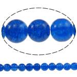 Glass Beads kërcitje, Xham, Round, asnjë, blu, 10mm, : 1.5mm, : 31.5Inç, 10Fillesat/Qese, approx83Pcs/Strand,  Qese