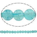 Glass Beads kërcitje, Xham, Round, asnjë, dritë blu, 8mm, : 1-1.5mm, : 31.5Inç, 10Fillesat/Qese, approx110Pcs/Strand,  Qese