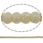 Stardust Glass Beads, Xham, Round, asnjë, bezh, 5mm, : 1mm, : 31.5Inç, 10Fillesat/Qese, approx227Pcs/Strand,  Qese