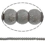 Stardust Glass Beads, Xham, Round, asnjë, gri, 5mm, : 1mm, : 31.5Inç, 10Fillesat/Qese, approx227Pcs/Strand,  Qese