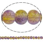 Glass Beads kërcitje, Xham, Round, asnjë, dy-ton, asnjë, 5mm, : 1mm, : 31.5Inç, 10Fillesat/Qese, approx 210Pcs/Strand,  Qese