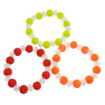 Crystal Acrylic Bracelets, frosted & fluorescent, mixed, 12mm, Approx 12Strands/Bag, Length:7.5 Inch, Sold by Bag