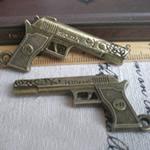 Pendants Zink Alloy Tool, Alloy zink, Armë, Ngjyra antike bronz i praruar, asnjë, asnjë, , nikel çojë \x26amp; kadmium falas, 63x23mm, : 1mm, 40PC/Qese,  Qese
