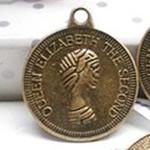 Pendants Zink Alloy, Alloy zink, Round Flat, Ngjyra antike bronz i praruar, asnjë, asnjë, , nikel çojë \x26amp; kadmium falas, 23x20mm, : 1mm, 500PC/Qese,  Qese