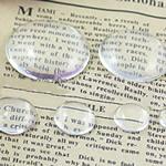 Cabochons Glass, Xham, Kube, asnjë, i tejdukshëm, qartë, 25x25x6.50mm, 300PC/Qese,  Qese