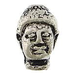 Beads bizhuteri Alloy zink, Buda, Ngjyra antike argjendi praruar, asnjë, asnjë, , nikel çojë \x26amp; kadmium falas, 9x14x9mm, : 2mm, 200PC/Qese,  Qese