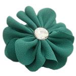 Leckë, with Rrëshirë diamant i rremë, Lule, asnjë, me rrëshirë diamant i rremë, bizele jeshile, 45x45mm, 100PC/Shumë,  Shumë