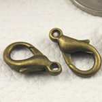 Zink Alloy kapje karavidhe, Alloy zink, Shape Tjera, Ngjyra antike bronz i praruar, asnjë, asnjë, , nikel çojë \x26amp; kadmium falas, 16x8mm, : 1.5mm, 300PC/Qese,  Qese