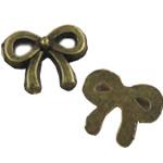 Zink Alloy Gjetjet bizhuteri, Alloy zink, Bowknot, Ngjyra antike bronz i praruar, asnjë, asnjë, , nikel çojë \x26amp; kadmium falas, 8.50x11mm, : 2mm, 1200PC/Qese,  Qese