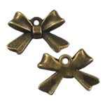Pendants Zink Alloy, Alloy zink, Bowknot, Ngjyra antike bronz i praruar, asnjë, asnjë, , nikel çojë \x26amp; kadmium falas, 10x14mm, : 2mm, 500PC/Qese,  Qese