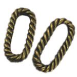 Alloy zink Lidhja Ring, Oval, Ngjyra antike bronz i praruar, asnjë, asnjë, , nikel çojë \x26amp; kadmium falas, 9x19mm, 400PC/Qese,  Qese