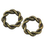 Alloy zink Lidhja Ring, Rolo, Ngjyra antike bronz i praruar, asnjë, asnjë, , nikel çojë \x26amp; kadmium falas, 15x15mm, 350PC/Qese,  Qese