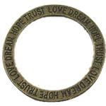 Alloy zink Lidhja Ring, Round, Ngjyra antike bronz i praruar, asnjë, asnjë, , nikel çojë \x26amp; kadmium falas, 35x35mm, 250PC/Qese,  Qese