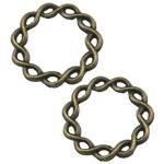 Alloy zink Lidhja Ring, Rolo, Ngjyra antike bronz i praruar, asnjë, asnjë, , nikel çojë \x26amp; kadmium falas, 20x20mm, 300PC/Qese,  Qese