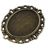 Zink Alloy Connector Setting, Alloy zink, Oval Flat, Ngjyra antike bronz i praruar, 2/2 loop, asnjë, , nikel çojë \x26amp; kadmium falas, 36x29mm, : 1.5mm, : 18x25mm, 120PC/Qese,  Qese