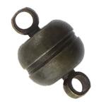 Kapje tunxh magnetik, Rondelle, plumbit ngjyrë të zezë praruar, asnjë & vetme-fillesë, asnjë, , nikel çojë \x26amp; kadmium falas, 11x7mm, : 2mm, 200PC/Shumë,  Shumë